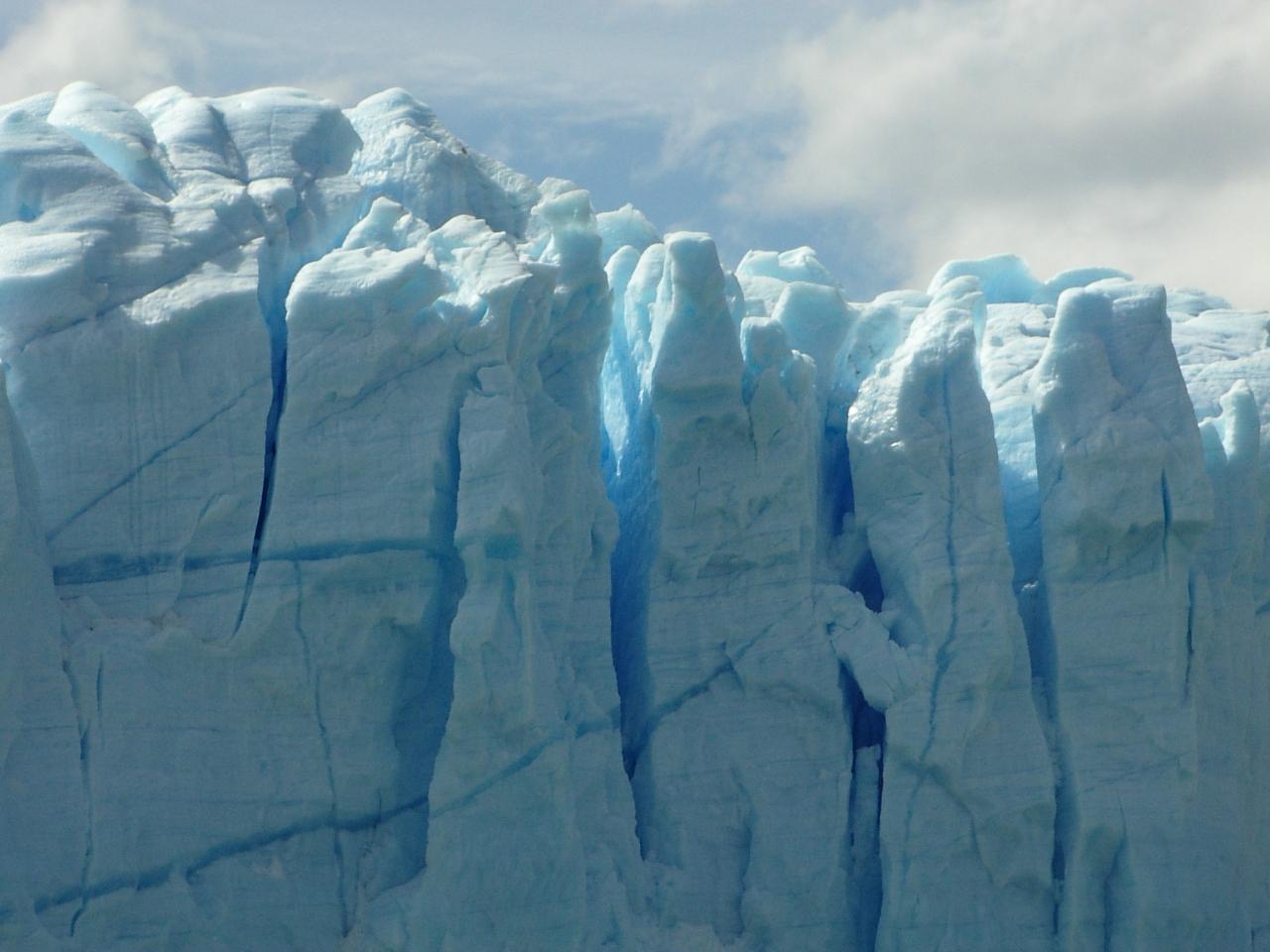 O dia está bom pra passear nos glaciares daPatagônia